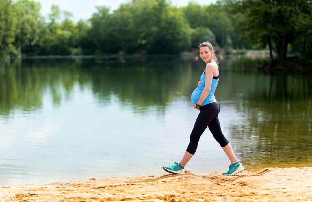 caminar durante el embarazo