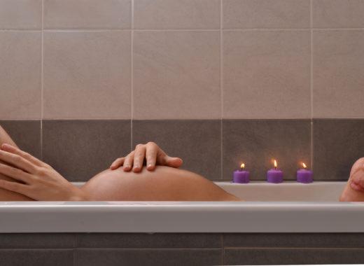 bañarse durante el embarazo