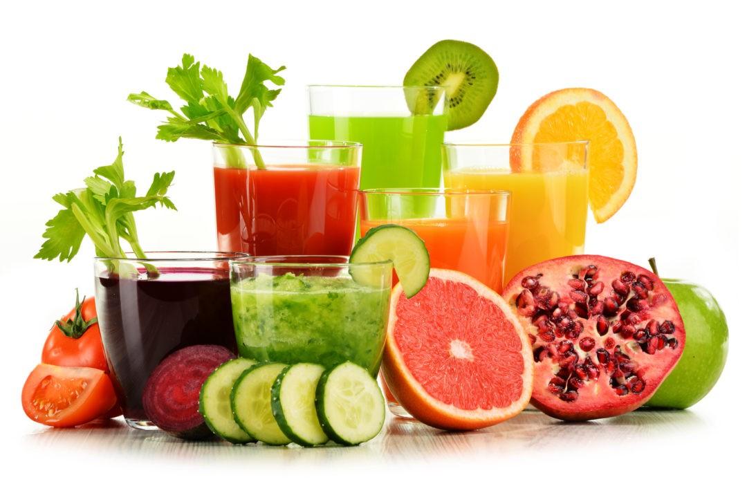 frutas y verduras crudas en el embarazo