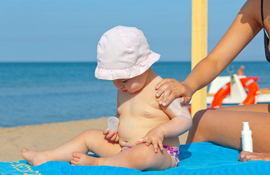 Cremas solares para bebés
