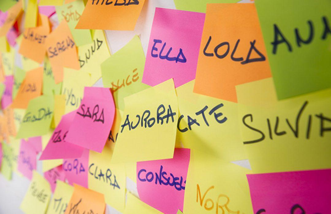 Los nombres más usados de bebé en España