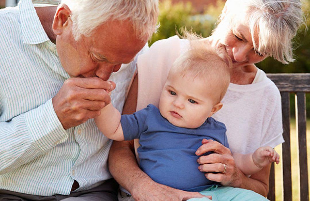 con lo abuelos en verano