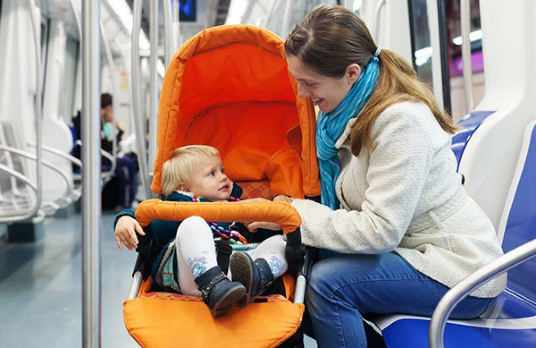 Consejos llevar bebé transporte público