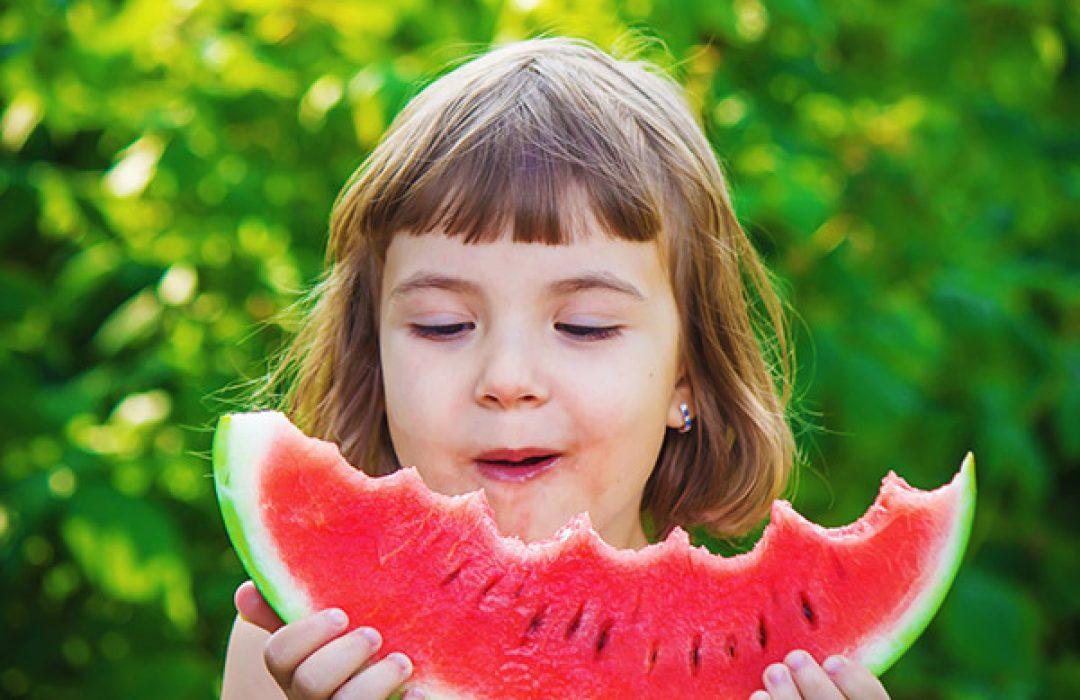 fruta merienda niños