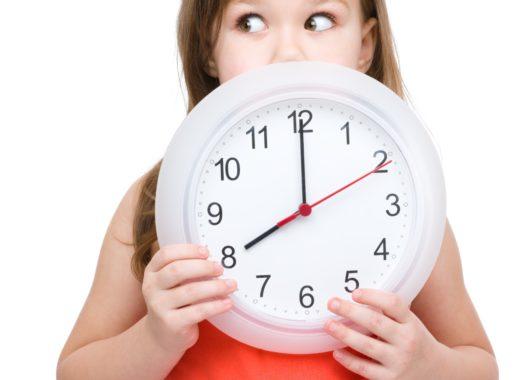 cambio horario en los niños